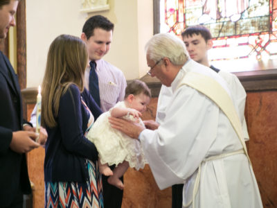 Addie Baptism Day at Sacred Heart
